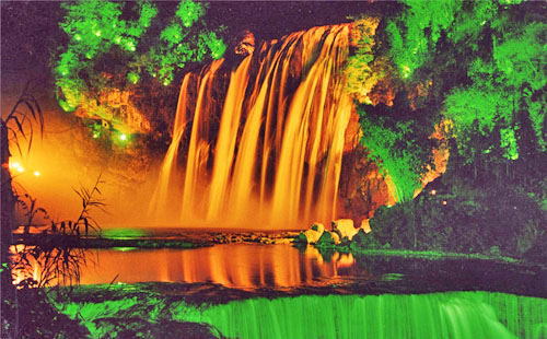 正翔照明黄果树瀑布项目——园林景观照明设计的完美呈现