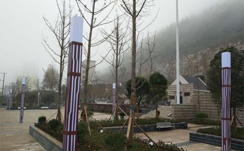 贵州务川丹砂广场景观灯清新脱俗,有正翔照明一份功劳