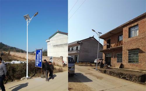 广袤大地风光好,娄底新农村太阳能路灯
