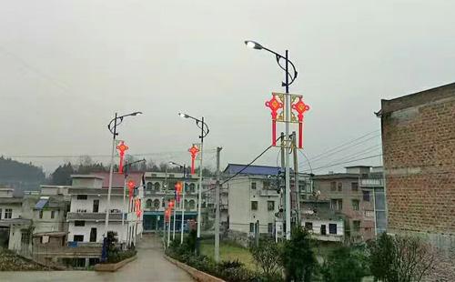大街小巷LED中国结路灯张灯结彩彰显新气象