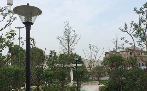 正翔照明湖北武汉洪山区罗家港小区庭院灯