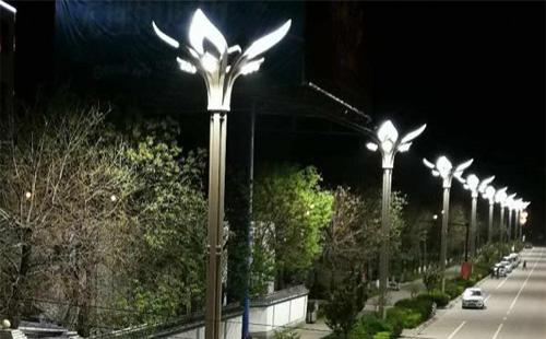 质感、美感!正翔照明完成商洛市山阳县玉兰灯项目