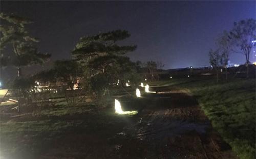 正翔照明完成山东青岛公园景观亮化
