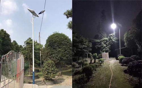 新农村太阳能路灯改造,四川广安现正翔照明身影