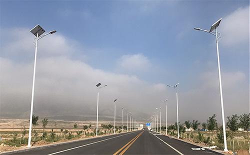 宁夏银川石嘴山惠农淄博工业园LED太阳能路灯项目