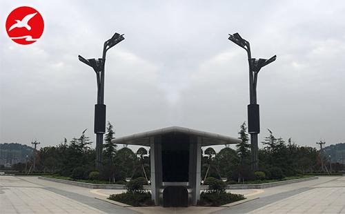 正翔照明参与了贵州铜仁北高铁站LED玉兰灯项目