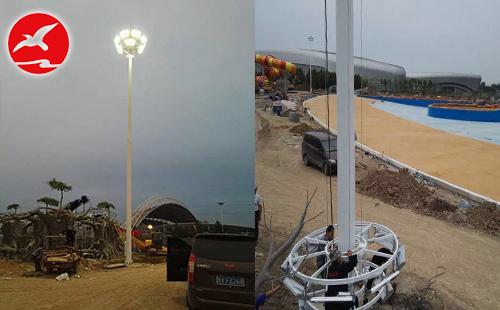 正翔照明完成湖北武汉蔡甸区新天大道LED高杆灯项目