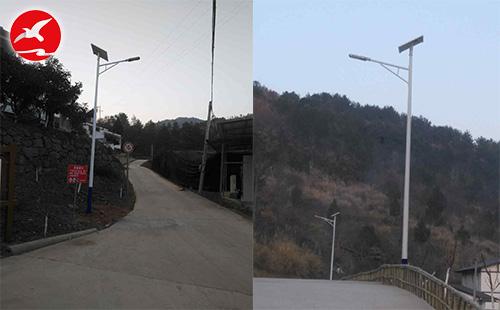 正翔照明LED太阳能路灯落户四川广元市剑阁县姚家乡场镇