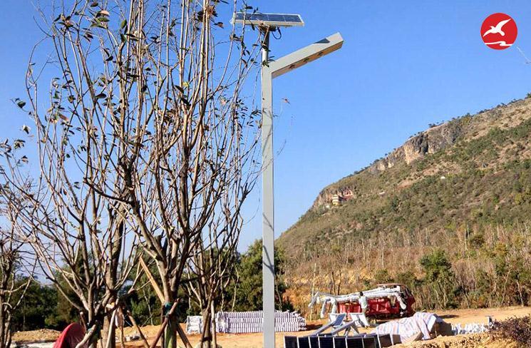 LED太阳能路灯生产厂家正翔照明承接云南昌宁东山森林项目