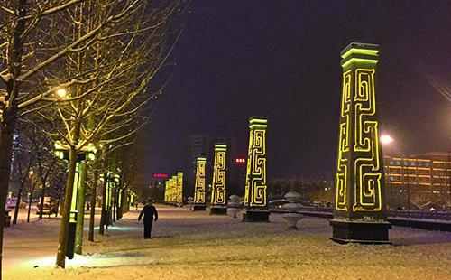 正翔照明顺利完成陕西宝鸡市扶风县城LED景观灯案例工程