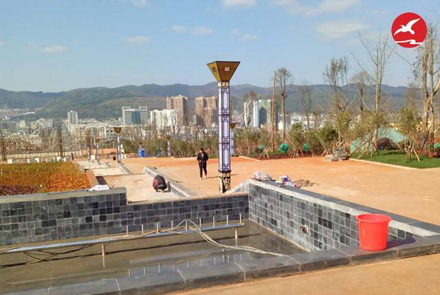 正翔照明参与曲靖市师宗县文笔公园LED景观灯项目