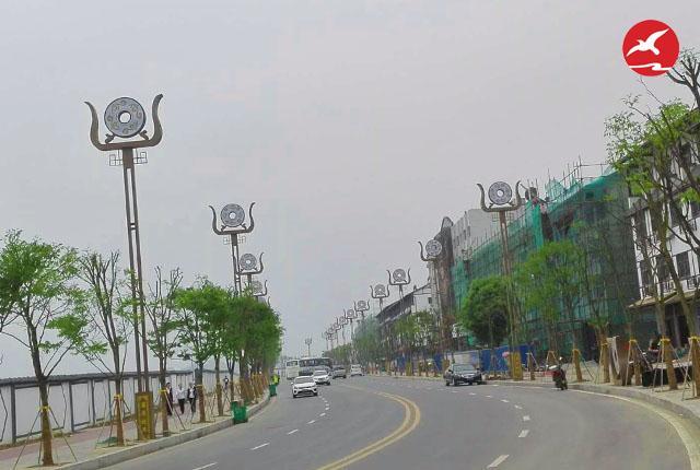 正翔照明新增秭归县二中LED景观路灯照明项目