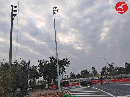 广东省韶关市高低臂路灯和高杆灯工程案例