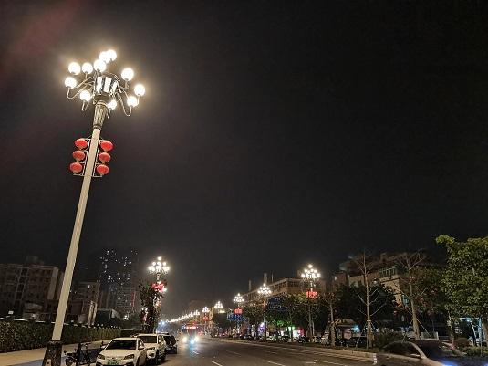 广州中华灯夜晚拍出惊艳的画面