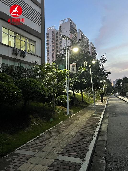 广西南宁市铁馨苑太阳能路灯工程案例
