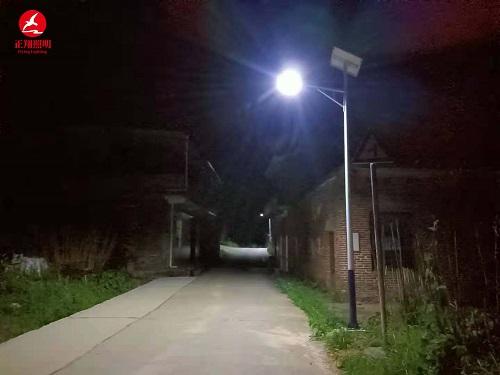 湖南省常宁市罗桥镇太阳能路灯安装