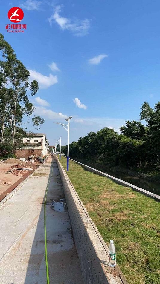 广州市增城区太阳能路灯工程案例