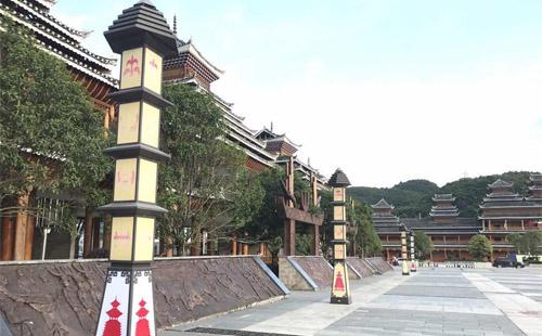正翔照明贵州从江高铁站LED景观灯亮化照明