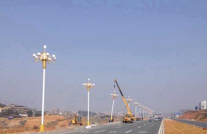 正翔户外照明承接湖南常宁市东二环、南二环路灯工程