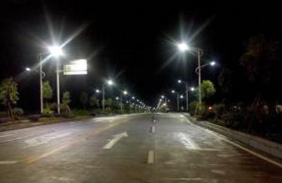 正翔户外照明参与葛洲坝路灯工程建设
