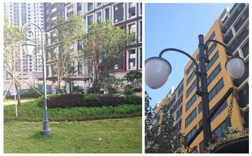 正翔户外照明承接清远市娅新城小区景观照明工程图片