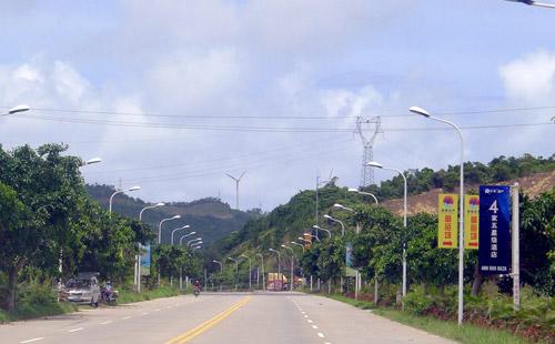 正翔户外照明惠州移民村LED路灯工程