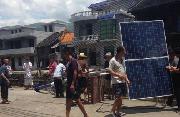 正翔户外照明参与广西南宁农村太阳能路灯工程