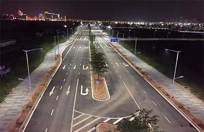 正翔户外照明承接珠海横琴自贸区路灯工程