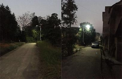 正翔照明承接湖南常宁新农村太阳能路灯项目
